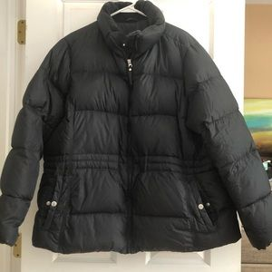 Lands End Down Jacket Black 2X